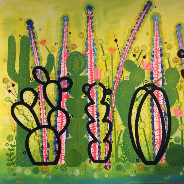Cactus Garden 2 1000mm x 1200 mm acrylic on canvas